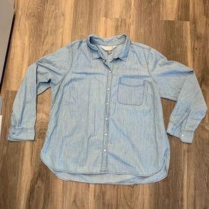 Old Navy Chambray Button-Down Shirt (Women's XL)